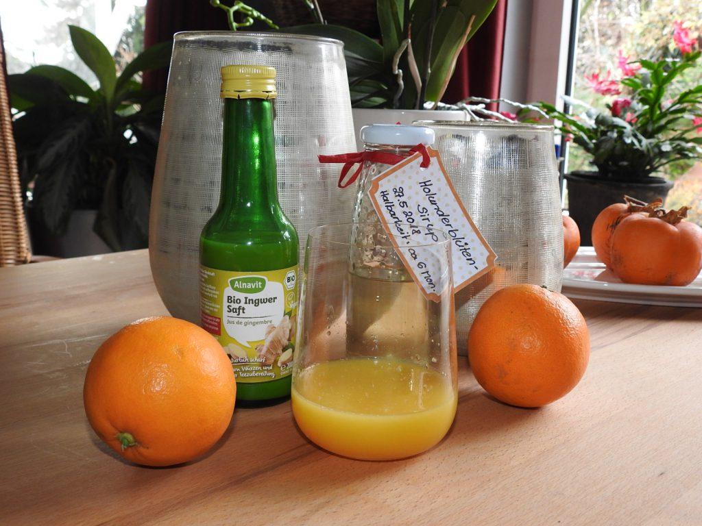 Orangen-Ingwer Shot
