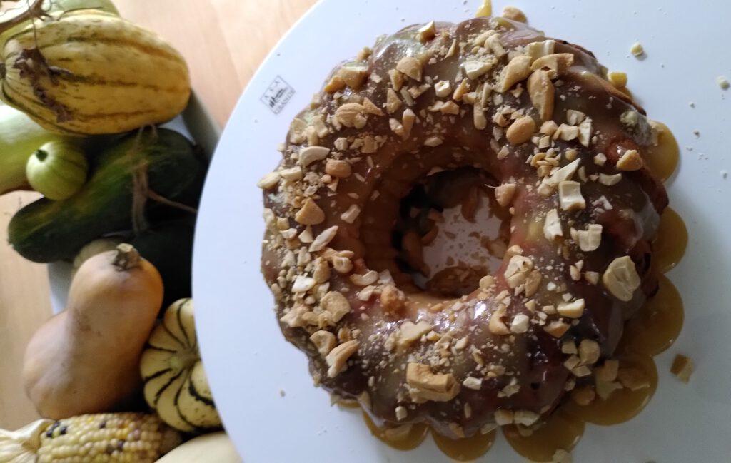 Zimtkuchen mit Karamell-Glasur (2)